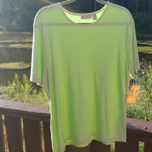 Nordstrom XL Short Sleeve Lime Green Top